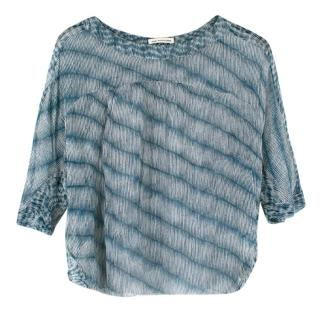 Isabel Marant Etoile Blue Silk Sheer Blouse