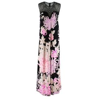 Leonard Paris Black Lace Detailed Sleeveless Gown