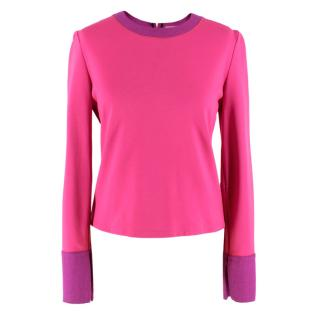 Roksanda Hot Pink Long Sleeve Top