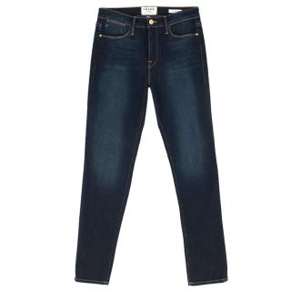 Frame Denim Dark Denim Le High Skinny Jeans