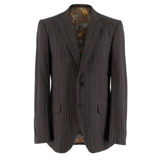 Etro Brown Armonia Single Breasted Jacket