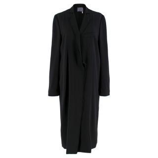 Lanvin Black Longline Wrap Coat