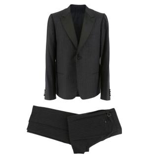 Lanvin Charcoal Pinstripe Wool Suit
