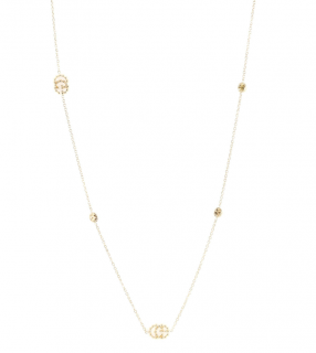 Gucci Double G 18kt Gold Running Necklace With Topaz