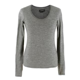 Isabel Marant Grey Cashmere-Silk Blend Jumper