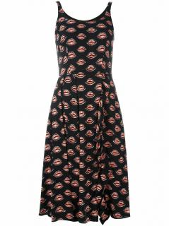 Prada lip print scoop neck dress