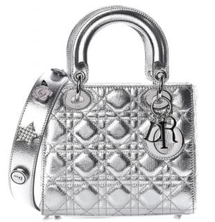 Dior Metallic Grained Calfskin Cannage Small My Lady Dior Bag