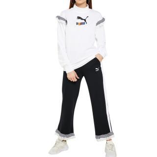 Puma x Tyakasha Black cropped straight trousers