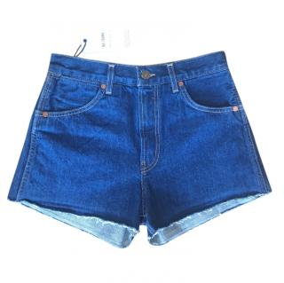 Re/Done original double needle western shorts
