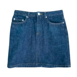 APC Blue Denim Mini Skirt