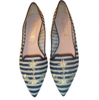 Pretty Ballerinas Striped Ballerina Flats