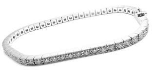 Cartier 19kt White Gold Lanieres Tennis Bracelet