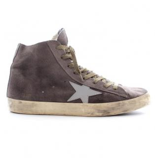 Golden Goose Deluxe Distressed High Tops