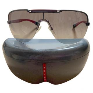 Prada men�s red & black aviator sunglasses