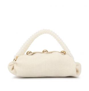 0711 Tbilisi Cream Embellished Pearl Mini Bag