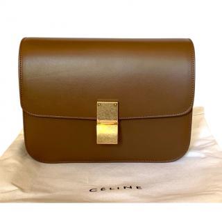 Celine Calfskin Camel Medium Box Bag