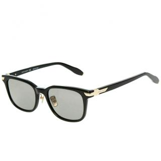 Aston Martin Glossy Black Square Sunglasses