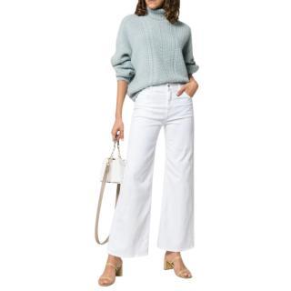 Eve Denim White Charlotte Wide Leg Culottes