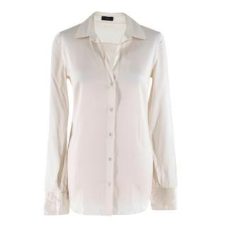 Joseph Ivory Silk Satin Stacy Shirt