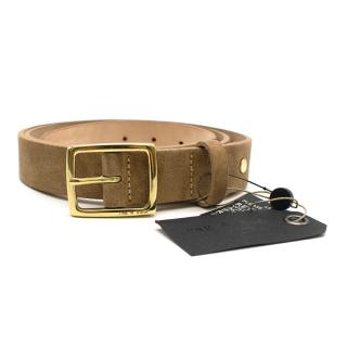 Rag & Bone Camel Suede Belt