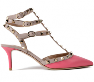 Valentino Candy Pink Rockstud Sandals