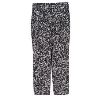 Sonia Rykiel Black Star Print Cropped Trousers