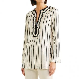 Tory Burch striped tunic top