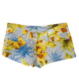 Dolce & Gabbana Floral Print Mini Shorts