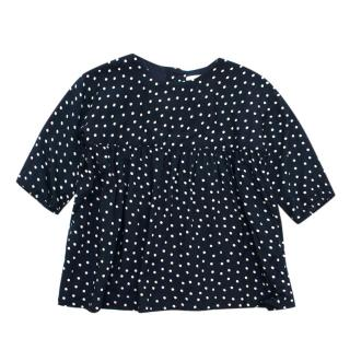 Caramel Baby & Child Navy Polka Dot Smock Top