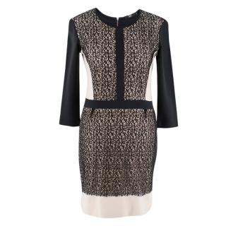 Markus Lupfer Black Panelled Mini Dress