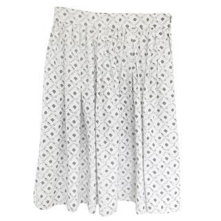Dolce & Gabbana Diamond Plane Print Skirt