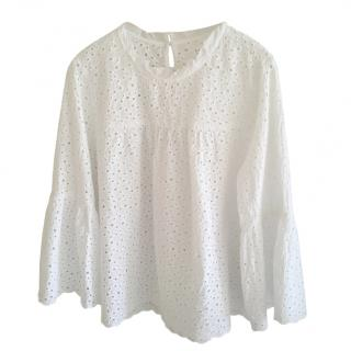 Velvet by Graham and Spencer White Broderie Anglaise Blouse