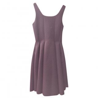 Maje Burgundy Mesh Fit & Flare Dress