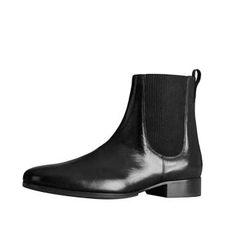 Burberry Buffalo Leather Chelsea Boots