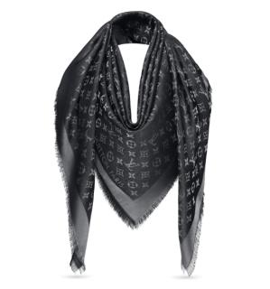 Louis Vuitton Monogram Shine Shawl in Black