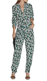 Stella McCartney Green & White Flower Print Trousers