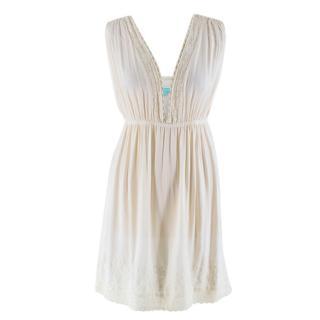 Melissa Odabash Cream Summer Beach Mini Dress