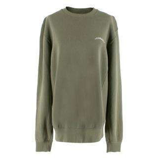 Fiorucci Khaki Crew Neck Sweatshirt
