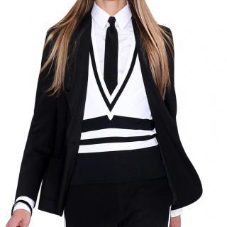 Ralph Lauren Collection runway black silk skinny tie
