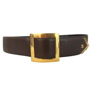 Chanel Brown Vintage Leather Belt