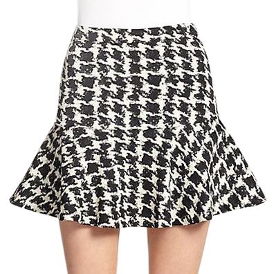 Parker Houndstooth Flounce McKenna Mini Skirt