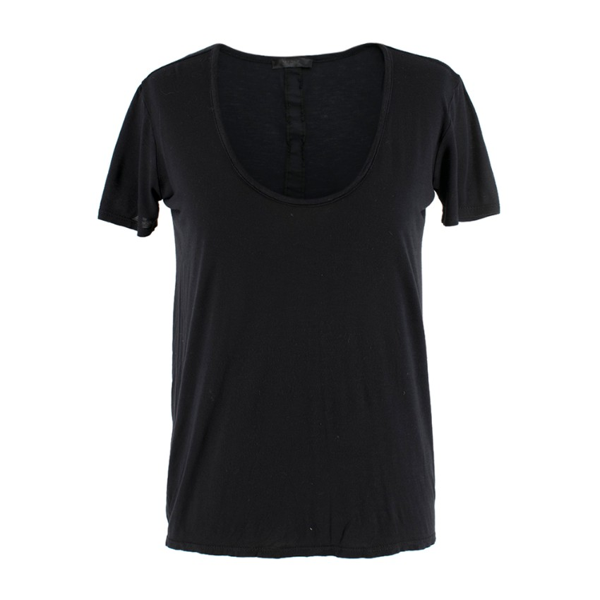 The Row Black T-Shirt with Horizontal Back Insert