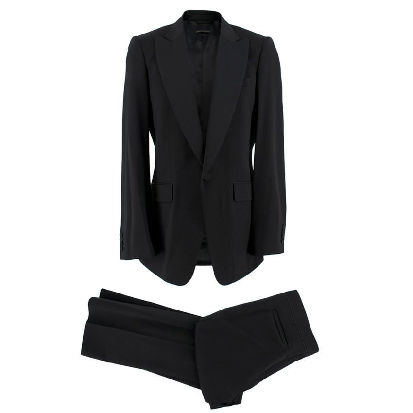 Burberry Black Wool Hand-Tailored Tuxedo
