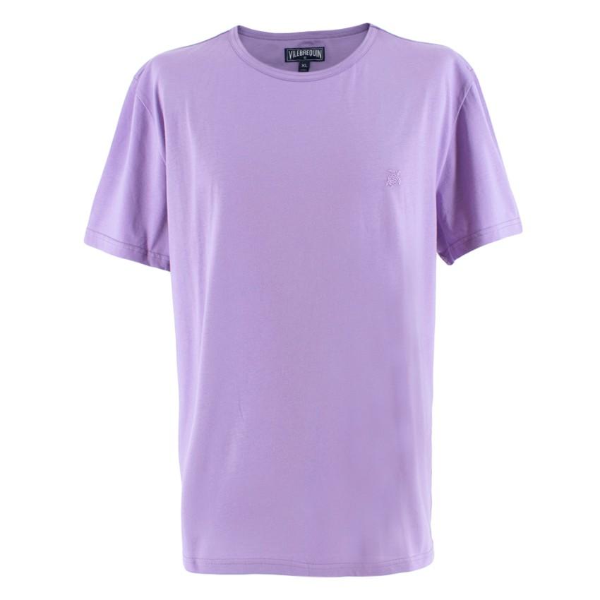 Vilebrequin Purple Embroidered Logo T-Shirt