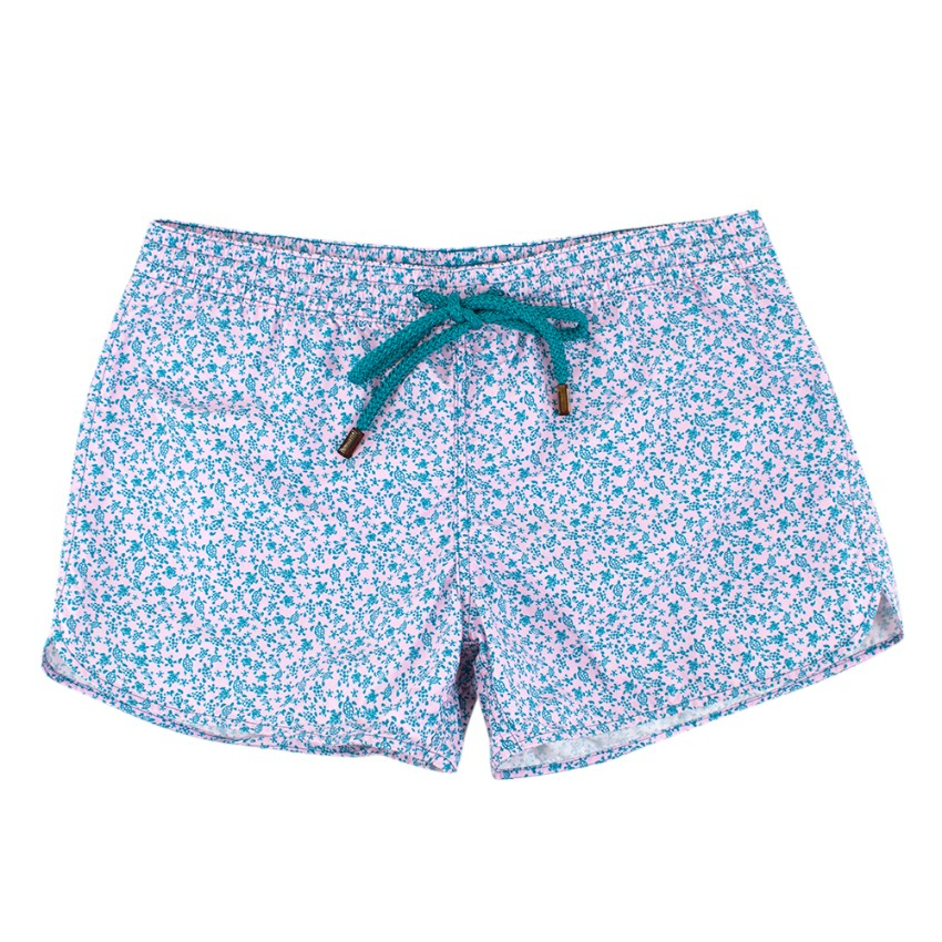Vilebrequin Pink and Turquoise Turtle Print Shorts