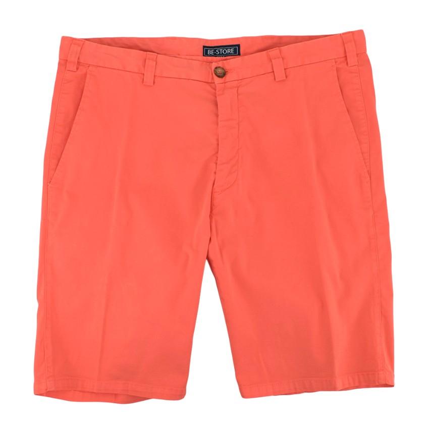 Be-Store Coral Pink Bermuda Shorts