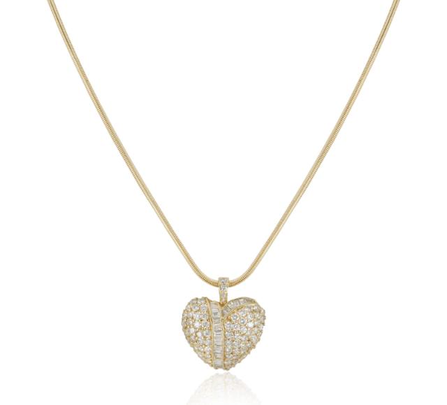 Bespoke Yellow Gold Diamond Heart Pendant