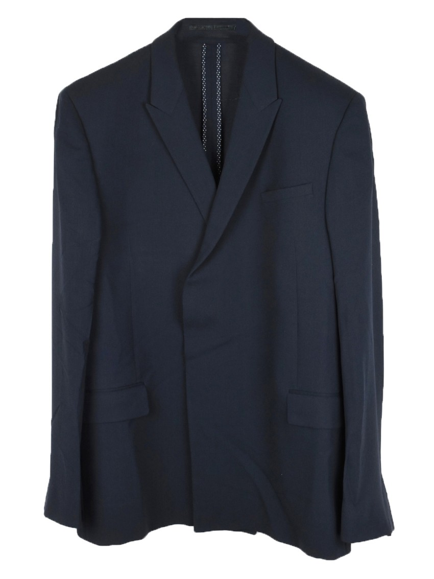 Kilgour Dark Navy Double Breasted regular fit wool blazer