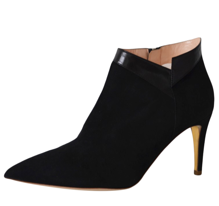 Rupert Sanderson Clare Black Suede Ankle Boots