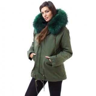 Luxy London Khaki Fur Trimmed Parka
